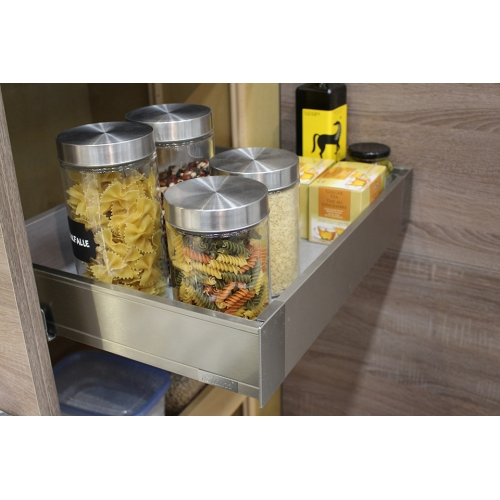 Adjustable pull-out drawer
