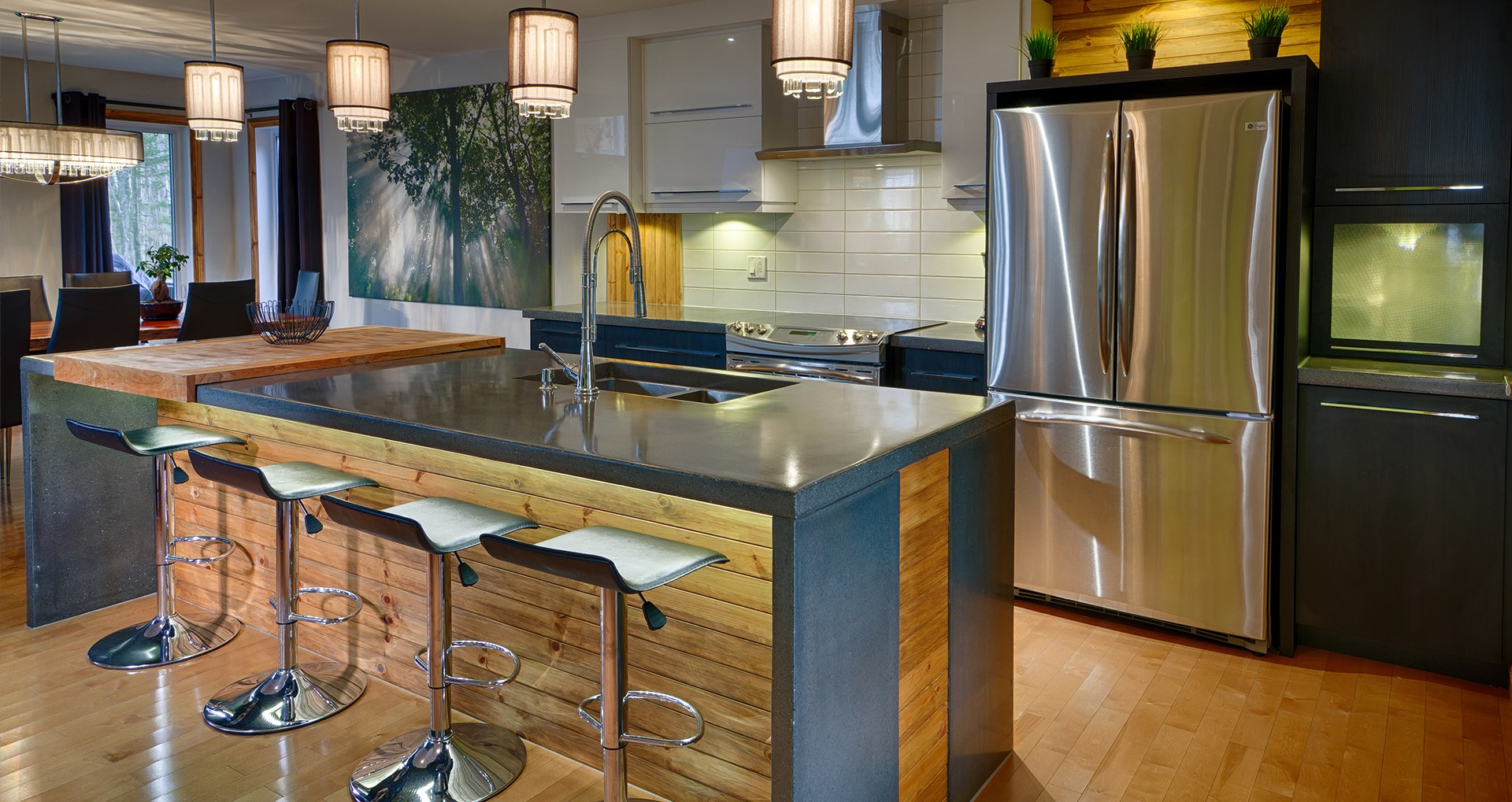 Bathroom & kitchen cabinets, custom furniture, counters | Cuisines ...